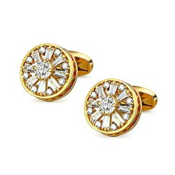 Gold Plated Crystal Cuff links