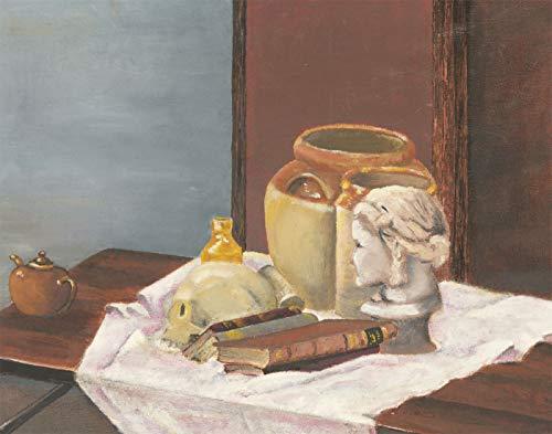 Mollie D. Poore - Mid 20th Century Oil, Still Life with a Skull 20th Century Still Life
