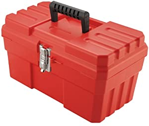 Akro-Mils 9514 14-Inch ProBox Plastic Tool Box, Red