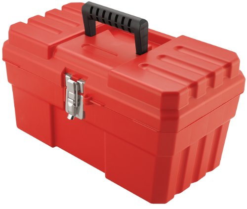 Akro-Mils 9514 14-Inch ProBox Plastic Tool Box, Red