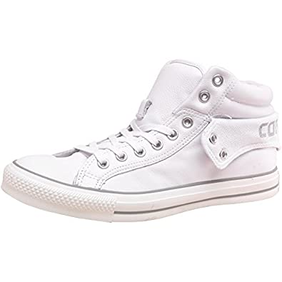 23d7c86b8ebb2c Converse Womens CT All Star Padded Collar 2 Mid Leather White Grey - White