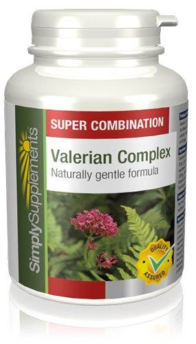 Valeriana Complex - 120 comprimidos - Hasta 2 meses de suministro - Complejo de Valeriana para favorecerla relajación y ayudar a dormir - SimplySupplements: ...