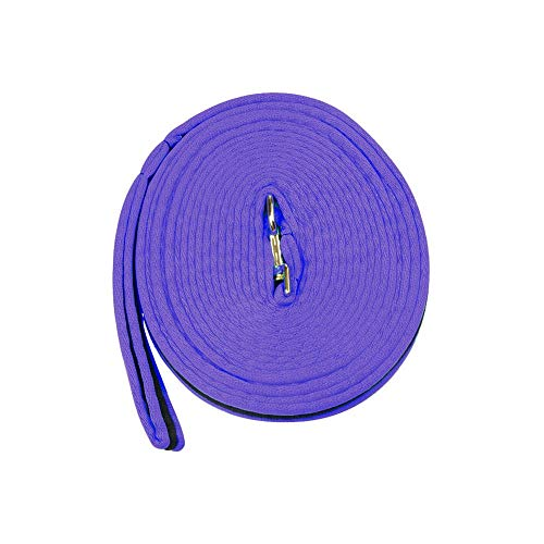 Kincade Two Tone Padded Lunging Reins - Color:Purple/Black Size:One