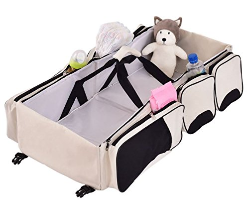 K&A Company Diaper Bag 3 Baby Bassinet 1 Station Portable Travel Change Nappy Infant by K&A Company