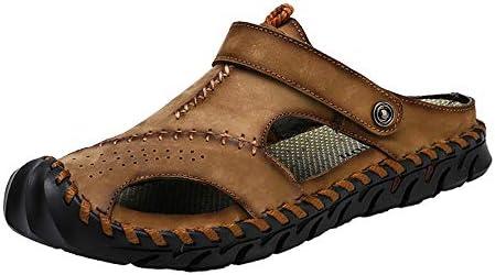 ファッションシューズ スタンダードシューズ 靴メンズファッションソフトサンダルカジュアル つま先屋外兼用スリッパ レジャーシューズ