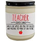 Teacher Gift Holiday Gift for Teacher Scented Candle Funny Candle Funny Christmas Gift Funny Teacher Gift End of School Gift