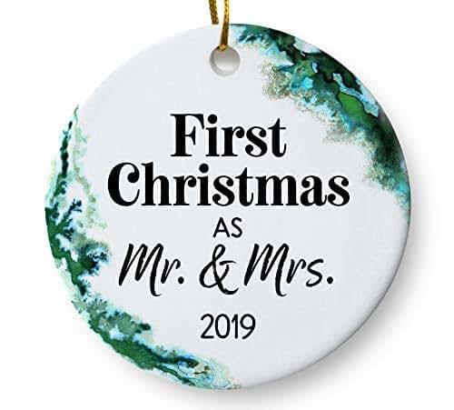 Christmas Ornament Wedding Gift: Amazon.com: First Christmas As Mr And Mrs 2019 Wedding