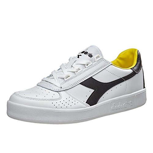 Diadora Unisex-Erwachsene B. Elite Pumps White Black Cyber Yellow