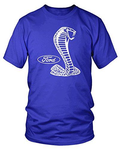 - Amdesco Men's Ford Cobra Logo, Officially Licensed Design T-Shirt, Royal Blue Large