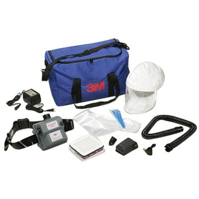 3M Safety AMH-12U Air-Mate Vinyl Belt-Mounted High Efficiency HE Powered Air Purifying Respirator PAPR System ()