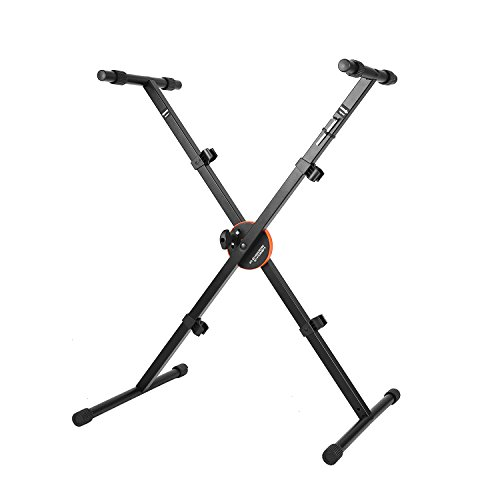 (Neewer X-Style Heavy Duty Folding Keyboard Stand with Height Control Lock and Non-slip Rubber Caps, 24.4