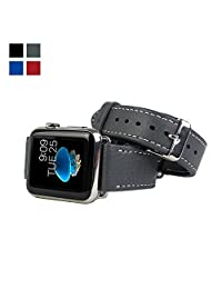 Snugg™ Apple Watch Genuine Leather Strap with Lifetime Guarantee Grey - 38mm Wrist Strap for the Apple Watch