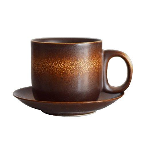 - Original Pottery Art Retro Style Coffee Cup Mug 2 Colors (brown)