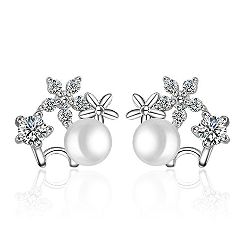 Figurine Peru Art (Winter's Secret Women Diamond Accented Style Sun Flower Silver Stud Earring)
