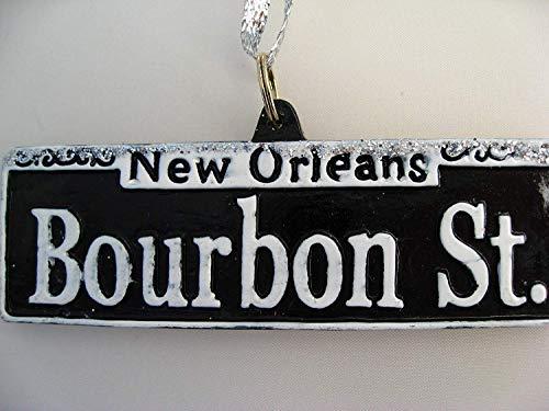 HOLIDAYS R US Bourbon Street Sign Ornament New Orleans Mardi Gras Christmas Ornament French Quarter Gift New Orleans Ornament Souvenir Wedding Favor Decor Decoration Party Favor Pouch