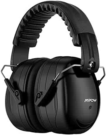 Mpow Noise Reduction Safety Ear Muffs, Shooters Hearing Protection Ear Muffs, Adjustable Shooting Ear Muffs, NRR 28dB Professional Ear Defenders for Shooting Hunting Season, with a Carrying Bag