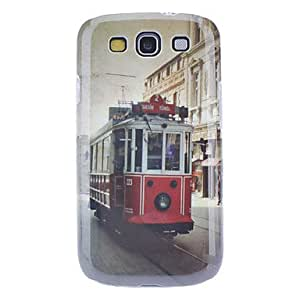 Vintage Electric Car Pattern Hard Case with HD Screen Protector and Stylus for Samsung Galaxy S3 I9300
