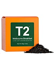 T2 Tea Melbourne Breakfast Loose Leaf Black Tea in Box, 3.5 Ounce (100g)