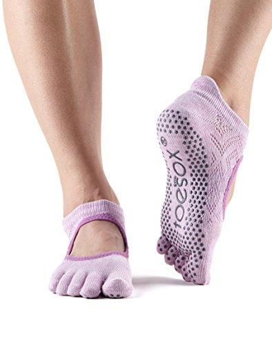 Womens Freesia - toesox Grip Full Toe Bellarina (Diamond Freesia) Medium