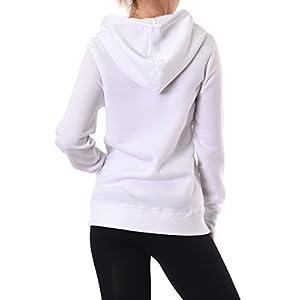 Teejoy Women's Fleece Lined Zip Up Hoodie Jacket (S, H.Gry)
