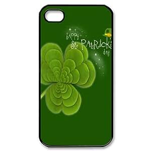 [H-DIY CASE] For Iphone 4 4S-Green Lucky Clover-CASE-12