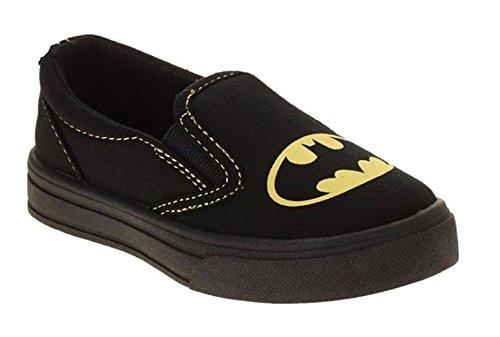 Batman Boy's Canvas Slip-on Sneaker (9 M US Toddler) (Batman For Toddlers)