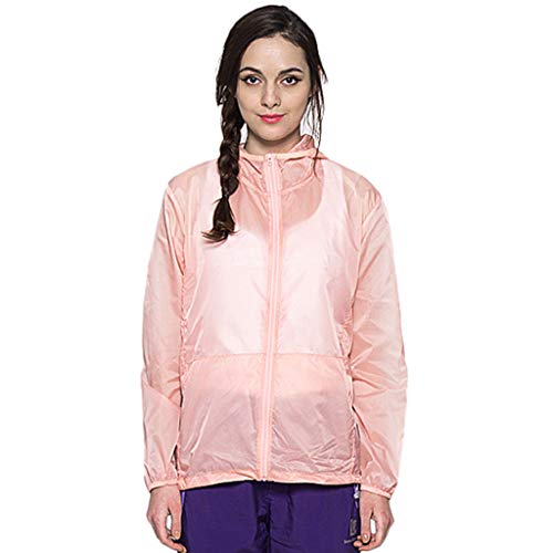 - Women Men's/Youth UPF 50 Sun Protection Hoodie Long Sleeve Performance T-Shirt Windproof Outdoor Bicycle Sports Jacket Pink