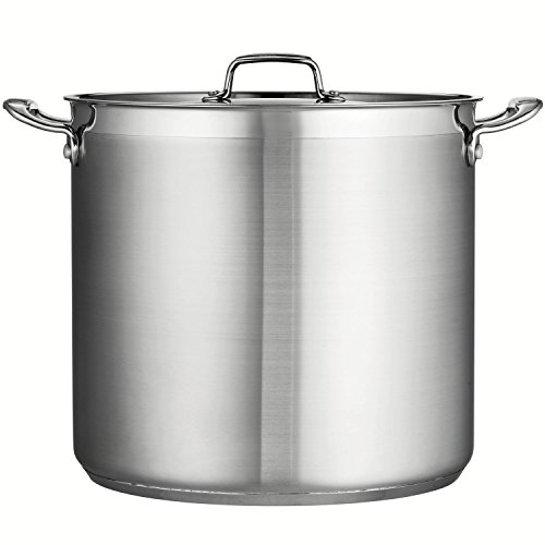 Tramontina 80120/003DS Tramontina Gourmet Stainless Steel Covered Stock Pot, 24-Quart by Tramontina (Image #1)