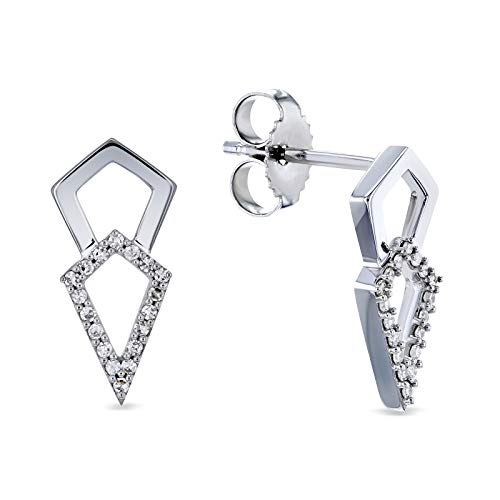 Diamond Kite Arrow Earrings 10k White Gold ()