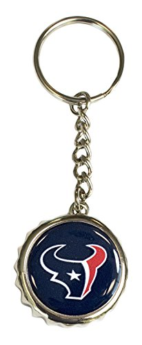 - Pro Specialties Group NFL Houston Texans Bottle Cap Keychain, Navy, One Size