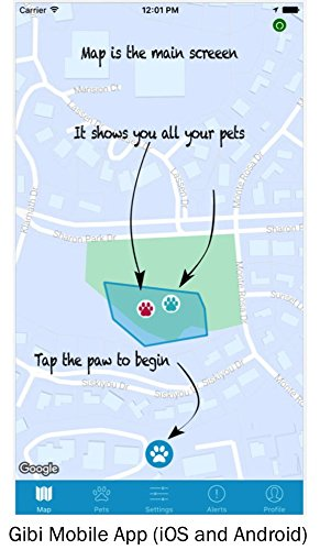 GIBI 2nd Gen Pet GPS Tracker (Locator) to Help Find and Keep Dog/Cat Safe 4