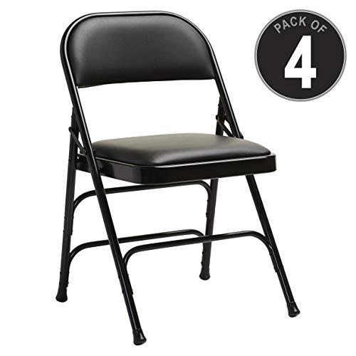 Samsonite 2800 Series Vinyl Padded Seat Chair (Case/4) Black