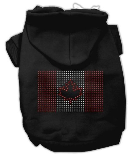 Mirage Pet Products 20-Inch Canadian Flag Hoodies, 3X-Large, Black