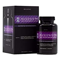 Nugenix PM - ZMA Nighttime Sleep Aid, Muscle Recovery, Free Testosterone Booster, Contains Patented Clinically Studied Dose of ZMA - 120 Capsules