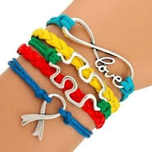 ism Awareness Jewelry, Autism Puzzle Piece Bracelet Makes the Perfect Gift ()