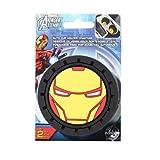 Marvel Iron Man Heavy Duty Rubber Auto Cup Coaster 2 pc