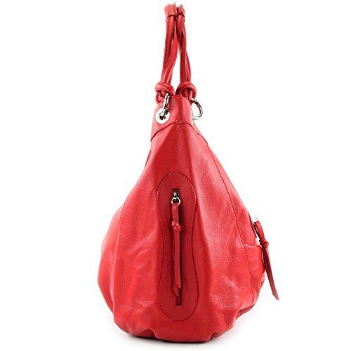 Colour Women's Shoulder Italian Large cm Nappa ModaModa Leather Bag Choice 42x16x30 Red Z18 zSqxEE5wB