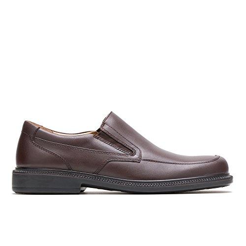 Hush Puppies Men's Leverage Slip-On,Brown Leather,8.5 W US