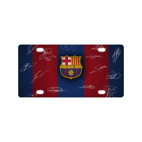 Barcelona Car - Custom License Plate Barcelona FC Metal License Plate Custom Car Tag 4 holes 12x6 inch