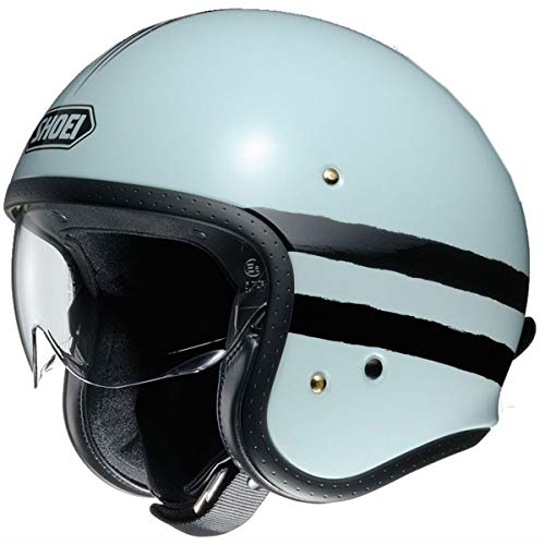 Shoei J O Vintage Open Face Helmet Sequel TC-10 Light Blue/Black Large (More Size and Color Options)