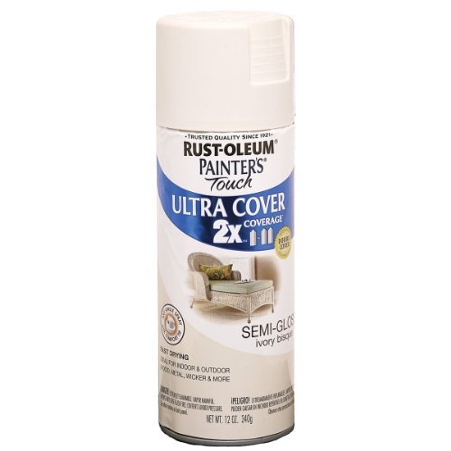 Rust-Oleum 249860 Painter's Touch Multi Purpose Spray Paint, 12-Ounce, Ivory Bisque (Colors Oleum Rust)