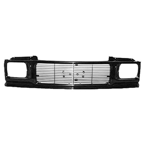Partomotive For 91-94 Sonoma Pickup Truck Front Grill Grille Assembly Black GM1200230 15661740