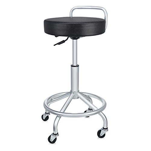 Seville Classics UltraHD Cushioned Pneumatic Work Stool, Black