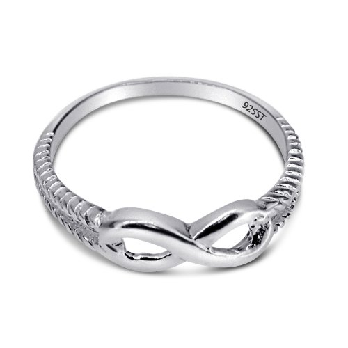 Sterling Silver High Polished Infinity Ring