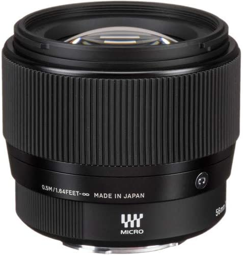 Sigma 56mm f//1.4 DC DN Contemporary Lens for Micro Four Thirds with UV Filter