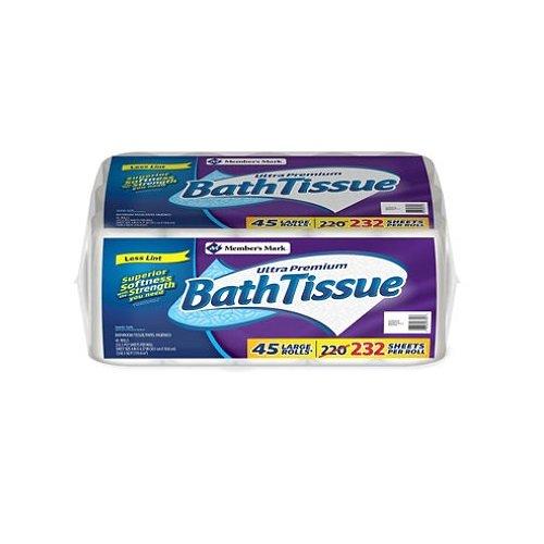 [Member's Mark Bath Tissue Ultra Premium, 2 ply (220 sheets, 45 Rolls)] (Ply Premium Bath Tissue)