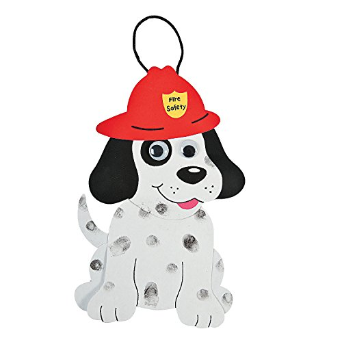 Fun Express Fire Safety Dalmatians Craft Kit (24 Pack) 8