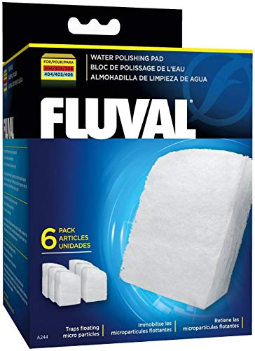 Fluval 306 A212 Aquarium Canister Filter withBio-Foam, Carbon & Polishing Pads, 12 Pack