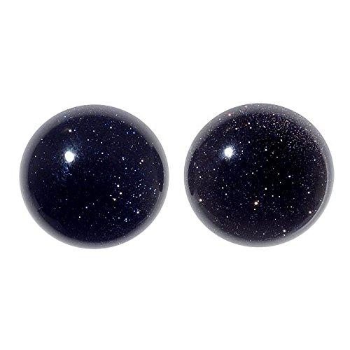 ldstone Gemstone Round Flat-Back Cabochons 18mm (2 Pieces) ()