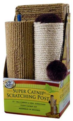 Pet Select Super Catnip Sisal and Carpet Cat Scratcher, 21″, My Pet Supplies